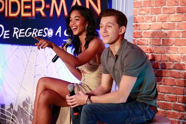 Así vivimos la entrevista con Tom Holland y Laura Harrier, protagonistas de Spider-Man: Homecoming