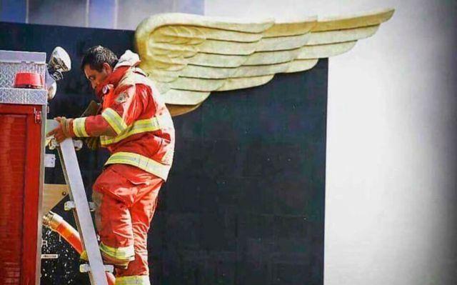 Después del sismo ocurrido el pasado 19 de septiembre, esta fotografía se viralizó