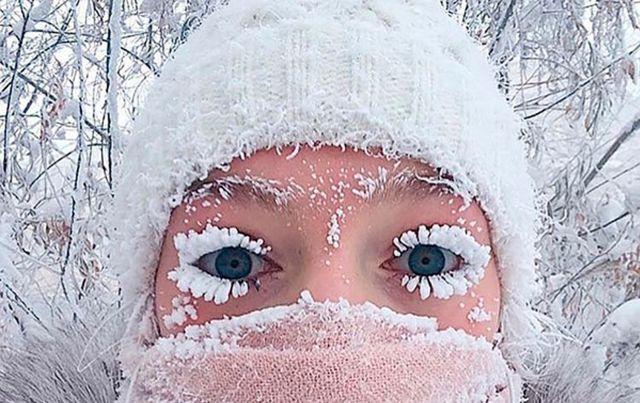 Las imágenes de este increíble frío son sorprendentes